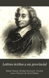 Lettres écrites a un provincial: précédées d'un éloge de Pascal