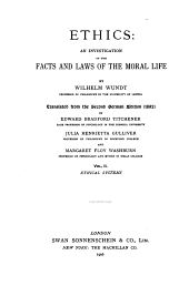 Ethical systems. 2d ed. 1906