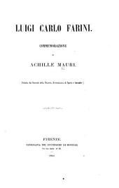 Luigi Carlo Farini. Commemorazione ... Estratta dai fascicoli della Nuova antologia, etc