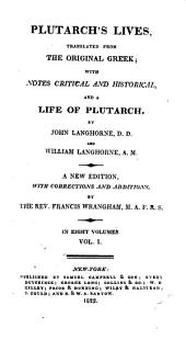 Plutarch's Lives: Translated from the Original Greek, Volume 1