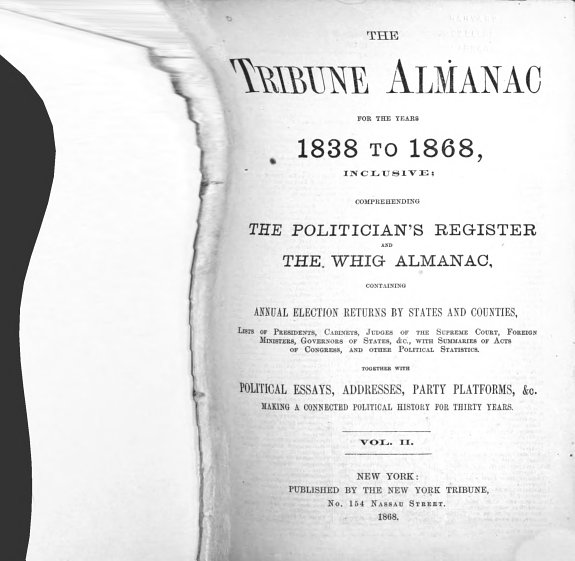 The Tribune Almanac for the Years L838 to L868  Inclusive