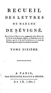 Recueil des lettres de Madame de Sévigné: Volume10