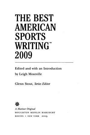 The Best American Sports Writing PDF