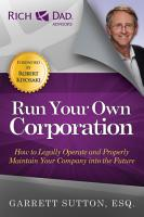 Run Your Own Corporation PDF