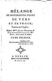 Mélange de différentes pièces de vers et de prose,: L'Histoire de Cléomélie