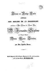 Trovas con motivo de la succesion del Rey D. Fernando Séptimo y Donna Maria Cristina