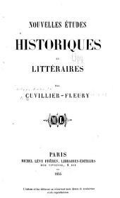 Nouvelles études historiques et littéraires