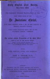 The Earliest English Translation of the First Three Books of the De Imitatione Christi: Issue 63