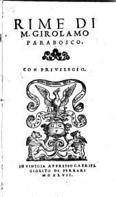 Rime. - Vinegia, Gabriel Giolito 1547