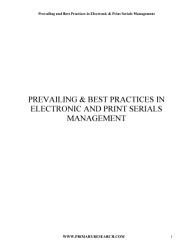 Prevailing and Best Practices in Electronic   Print Serials Management PDF