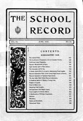 School Record: Volume 9, Issue 10