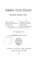 Cobden Club Essays  Second Series  1871 2 PDF