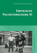 Empirische Polizeiforschung III PDF