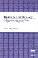 Doxology and Theology PDF