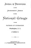 Journal of Proceedings of the National Grange of the Patrons of Husbandry PDF