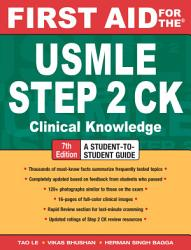 First Aid For The Usmle Step 2 Ck Seventh Edition Book PDF