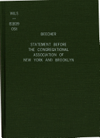 Statement Before the Congregational Association of New York and Brooklyn  in which He Resigns His Membership and Gives His Doctrinal Beliefs and Unbeliefs PDF