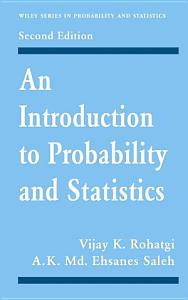 An Introduction to Probability and Statistics Book