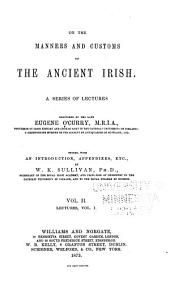 On the Manners and Customs of the Ancient Irish: Volume 2