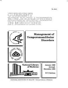 Management of Temporomandibular Disorders PDF