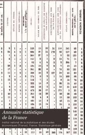 Annuaire statistique de la France: Volume5