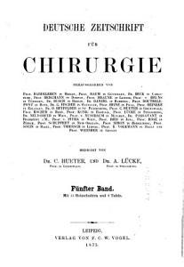 Deutsche Zeitschrift f  r Chirurgie PDF