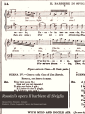 Rossini's opera Il barbiere di Siviglia: containing the Italian text, with an English translation and the music of all the principal airs