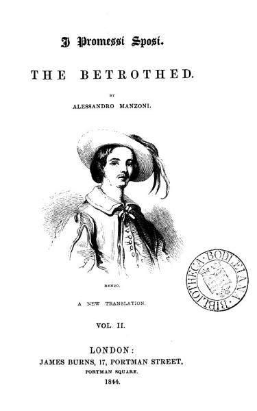 Download I promessi sposi  The betrothed  Transl Book