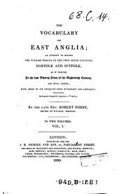 The vocabulary of East Anglia [ed. by G. Turner].