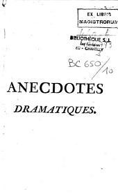Anecdotes dramatiques [par La Porte et J. M. B. Clément]