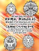 20 Super Easy Circle Animal Mandalas With Hints of Art Nouveau & Art Deco Design
