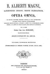 B. Alberti Magni Opera omnia: Volume 22