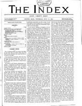 The Index ...: A Weekly Paper, Volume 3; Volume 14
