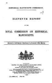 Report of the Royal Commission on Historical Manuscripts: Issue 11, Part 1