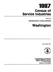 1987 Census of Service Industries: Geographic area series. Washington