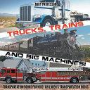 Trucks  Trains and Big Machines  Transportation Books for Kids Children s Transportation Books