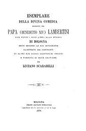 Esemplare della Divina comedia donato da papa (Benedetto XIV) Lambertini ... allo Studio di Bologna: Volume 1