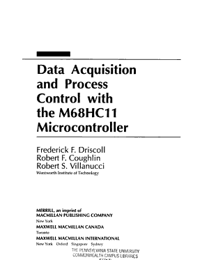 Data Acquisition and Process Control with the M68HC11 Microcontroller PDF