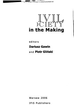 Civil Society in the Making PDF