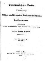 Stenographischer bericht   ber die verhandlungen der deutschen constituirenden Nationalversammlung zu Frankfurt am Main PDF