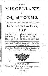 A New Miscellany of Original Poems, Translations and Imitations