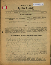 Bulletin of the Taylor Society: Volume 4, Issue 1