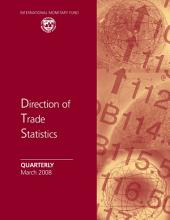 Direction of Trade Statistics Quarterly, March 2008