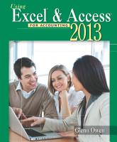 Using Microsoft Excel and Access 2013 for Accounting PDF