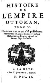 Histoire de l'empire ottoman: Volume4