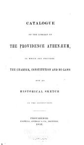 Catalogue of the Library of the Providence Athenaeum