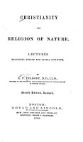 Christianity the Religion of Nature PDF