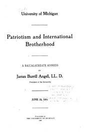 Patriotism and International Brotherhood: A Baccalaureate Address