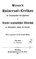 Pierer s Universal Lexikon der Vergangenheit und gegenwart oder Neuestes encyclopadisches Worterbuch     PDF