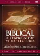 Introduction To Biblical Interpretation Video Lectures